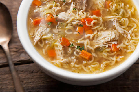 Homemade Chicken Noodle Ramen Soup Recipe