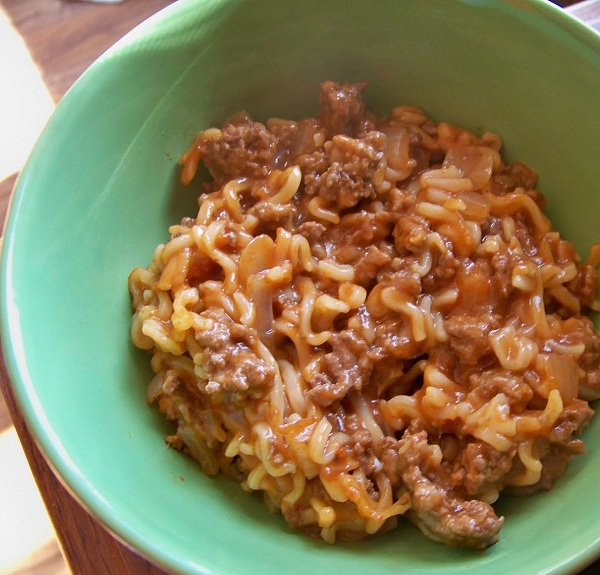 Sloppy Joe Ramen Noodles Recipe